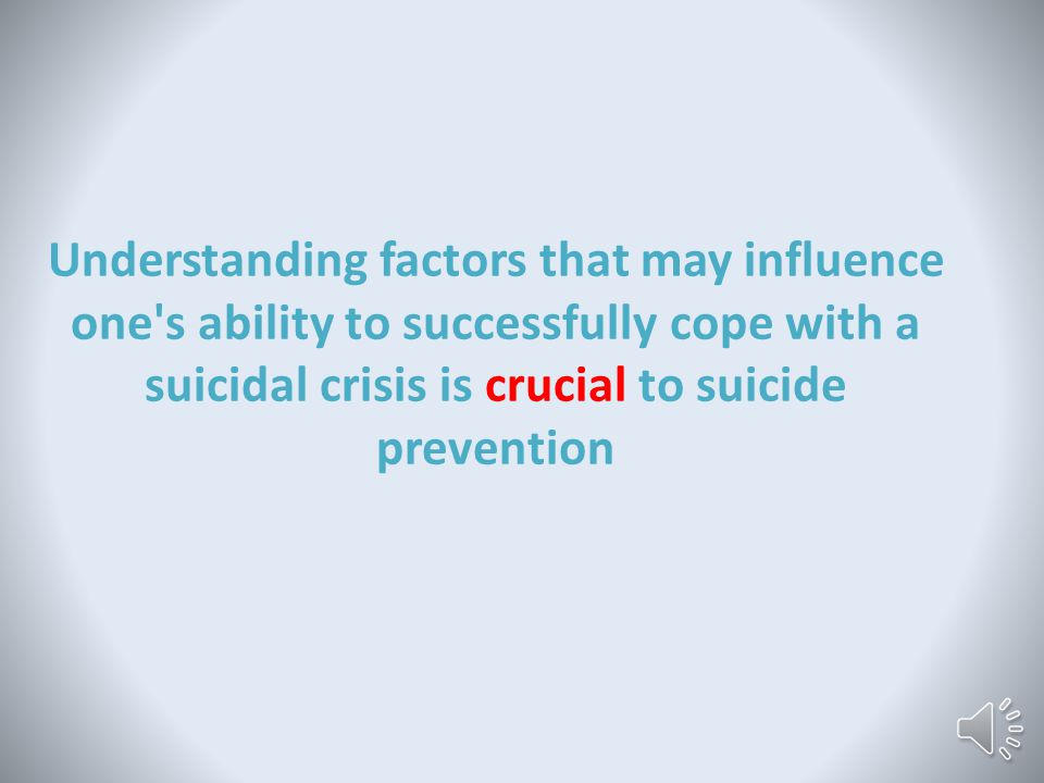 This doesn't just apply to people with brain injuries Those who are acutely suicidal often become fixated on suicide and develop a kind of tunnel vision, whereby their ability to see coping alternatives is significantly restricted (Shneidman, 1957) http://www.traviseneix.com/tunnel-vision-for-the-win/