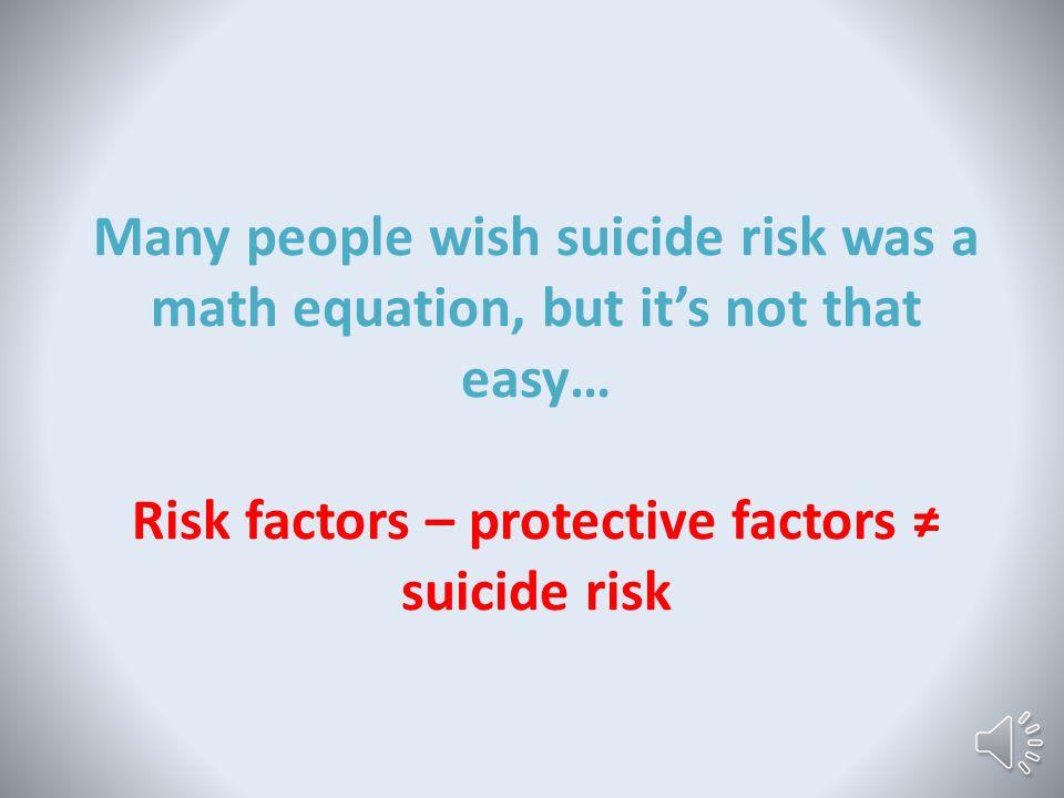 Objective 3 Conceptualization of suicide risk