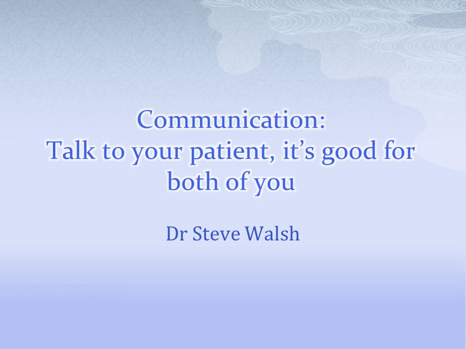 Dr Steve Walsh