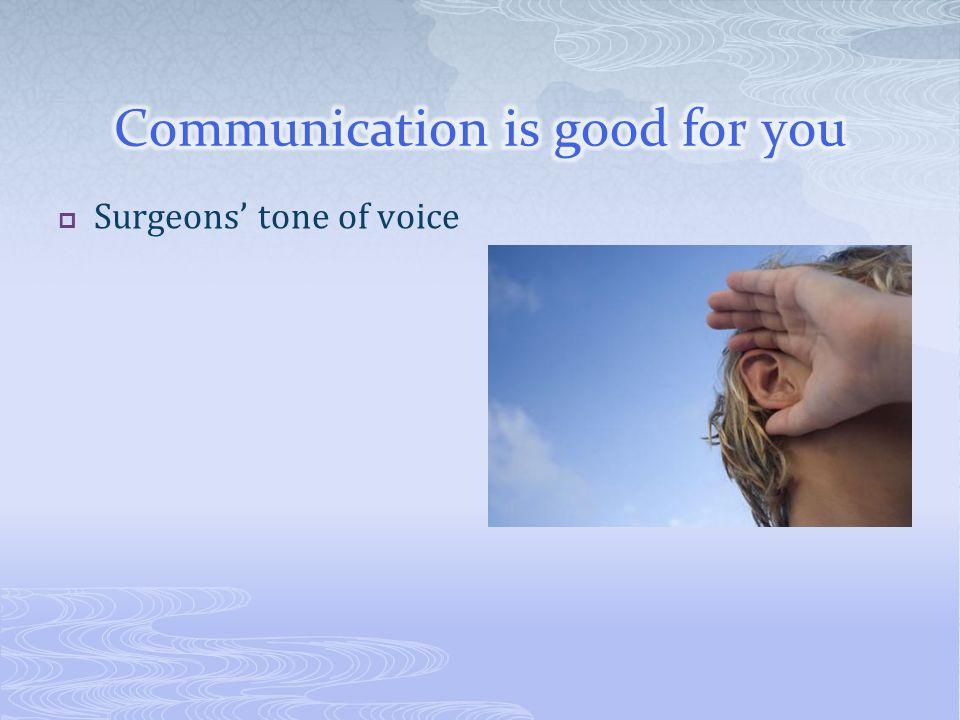  Surgeons' tone of voice
