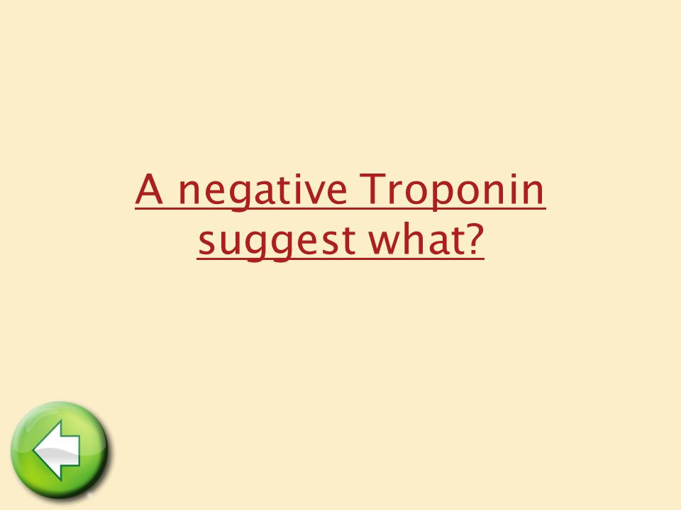 A negative Troponin suggest what?