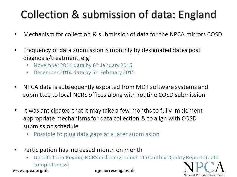 www.npca.org.uk npca@rcseng.ac.uk Thank You