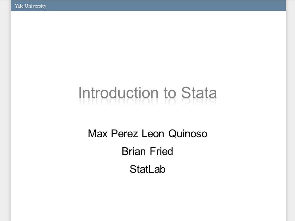 Max Perez Leon Quinoso Brian Fried StatLab