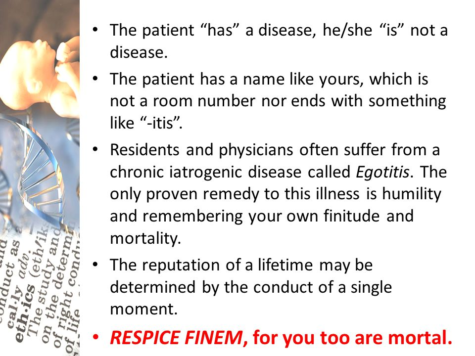 "The patient ""has"" a disease, he/she ""is"" not a disease. The patient has a name like yours, which is not a room number nor ends with something like ""-i"