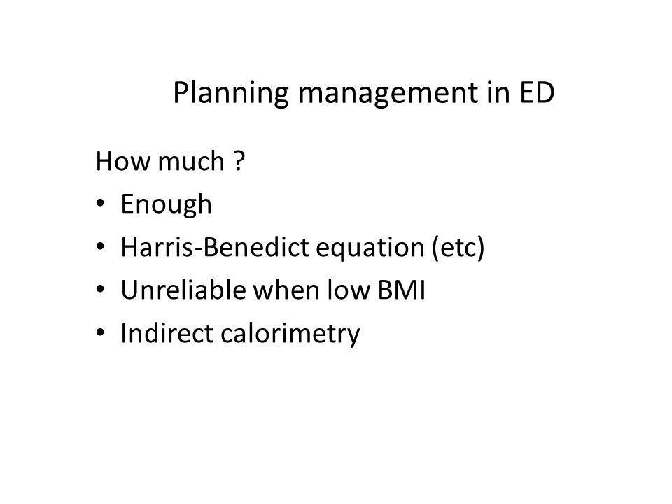 Planning management in ED How much .