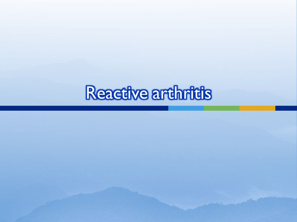 Reactive arthritis usually develops 2-4 weeks after a genitourinary or gastrointestinal infection.
