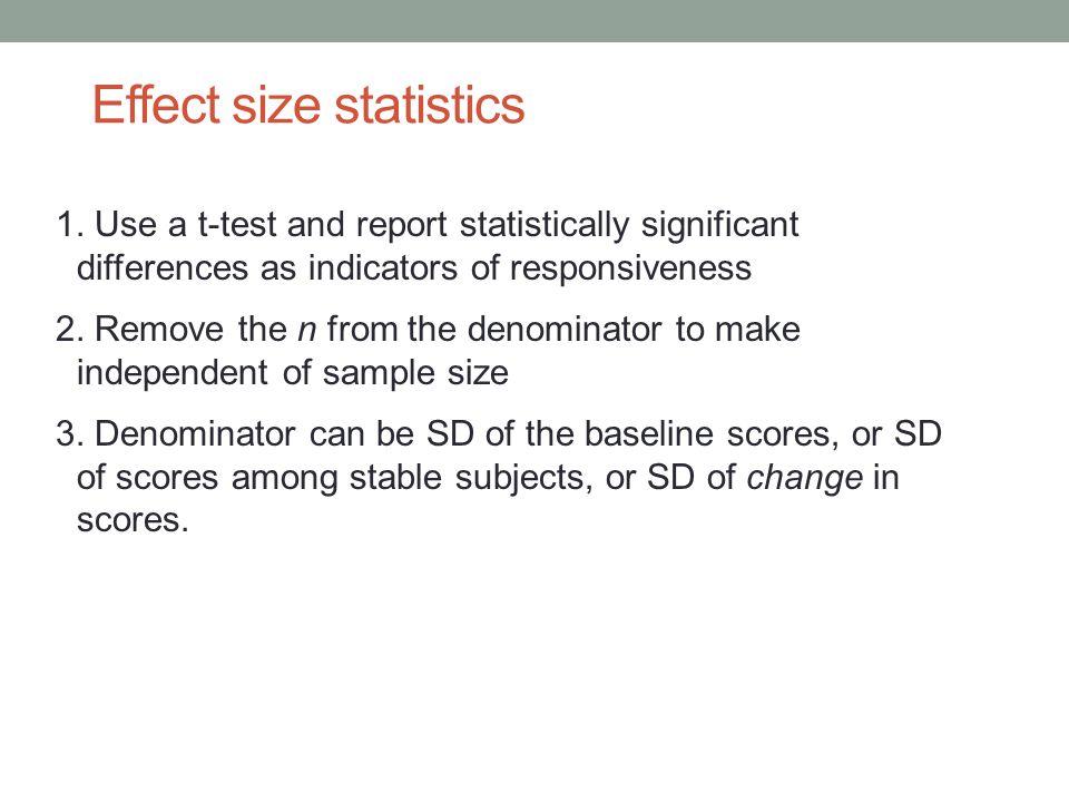 Effect size statistics 1.