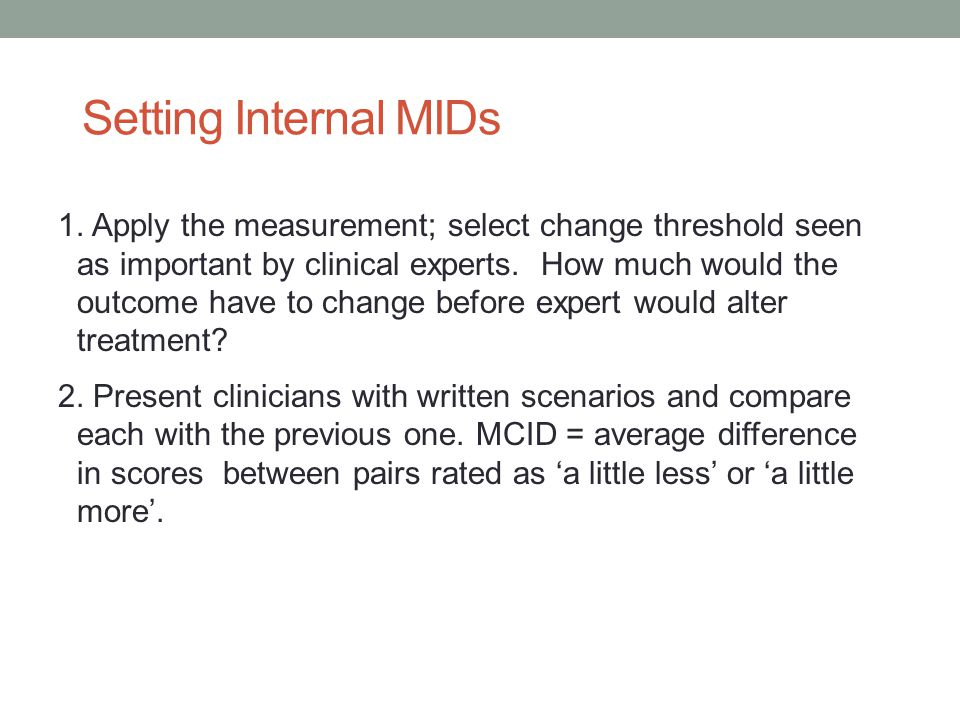 Setting Internal MIDs 1.