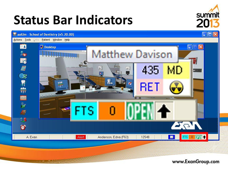 Status Bar Indicators