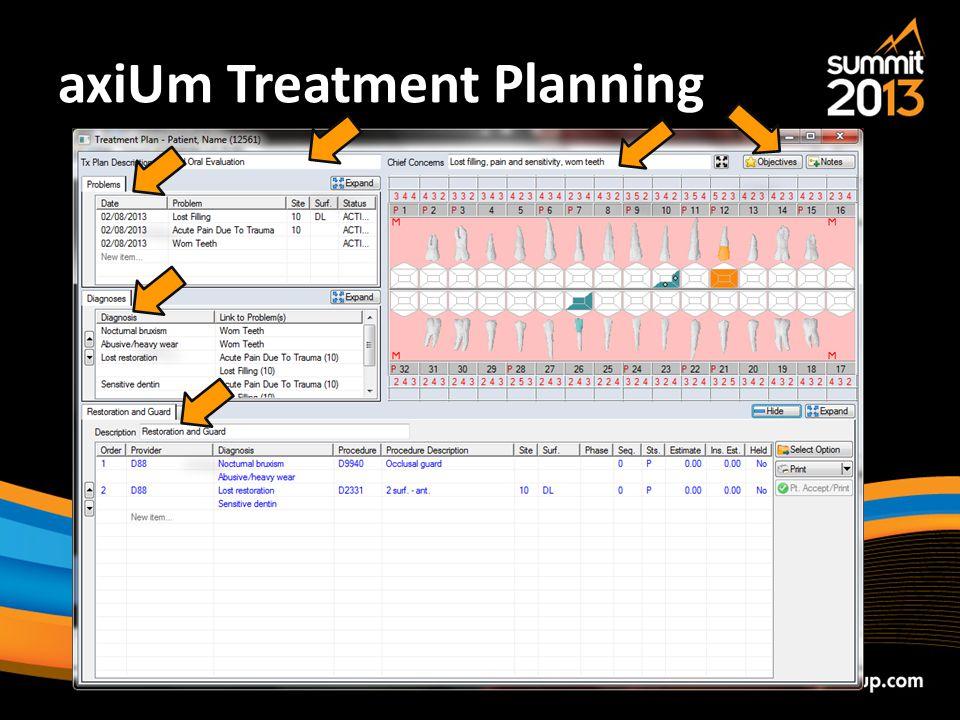 axiUm Treatment Planning