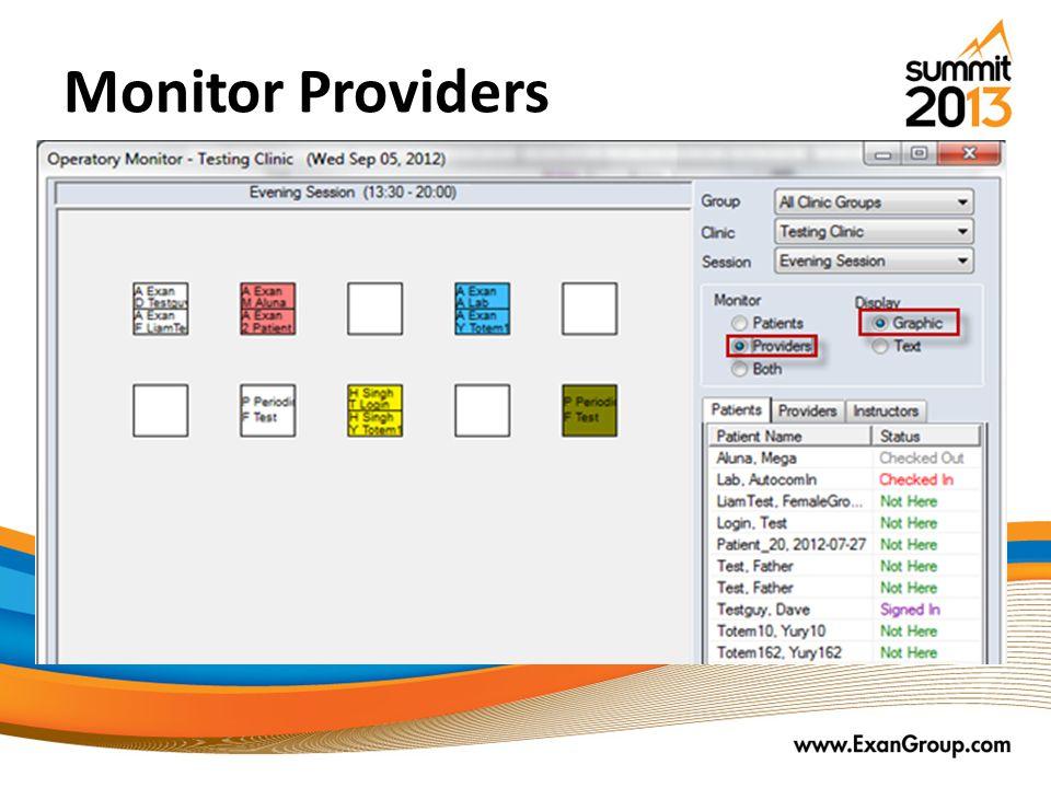 Monitor Providers