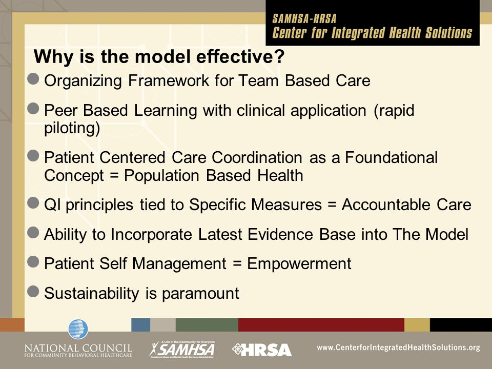 Organizing Framework for Team Based Care Peer Based Learning with clinical application (rapid piloting) Patient Centered Care Coordination as a Founda