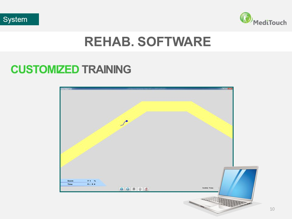 REHAB. SOFTWARE 10 System CUSTOMIZED TRAINING