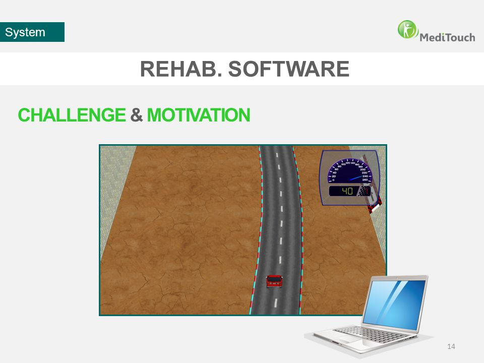 REHAB. SOFTWARE 14 System CHALLENGE & MOTIVATION