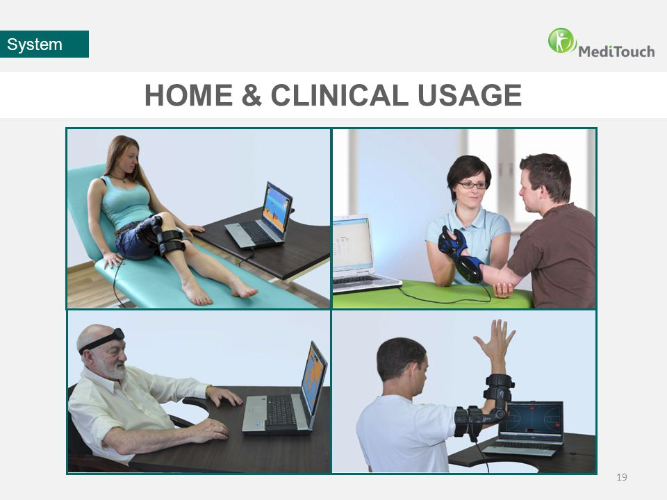 HOME & CLINICAL USAGE 19 System