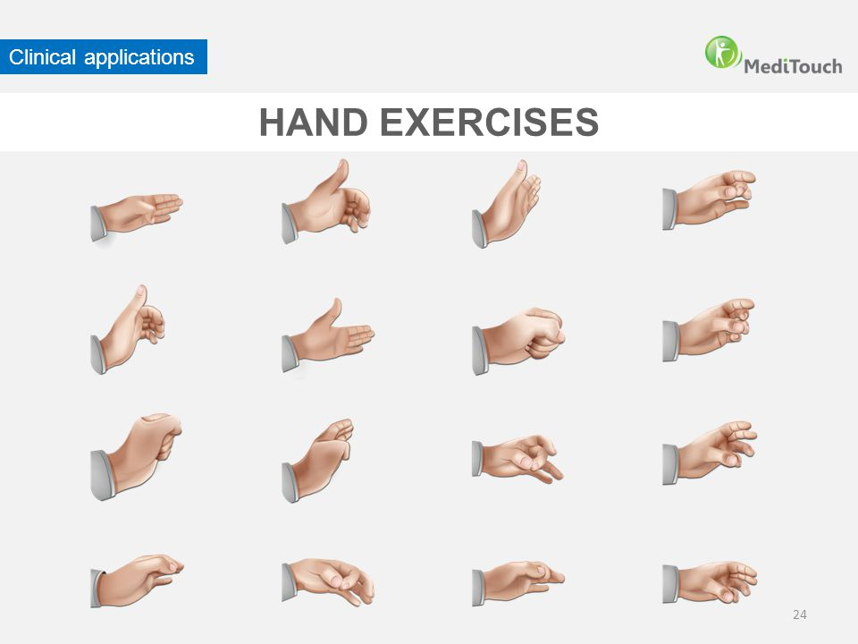 24 HAND EXERCISES Clinical applications