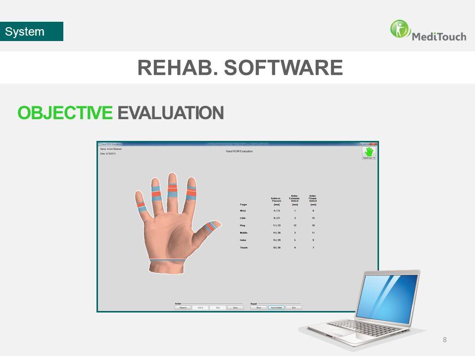 REHAB. SOFTWARE 9 System CUSTOMIZED TRAINING