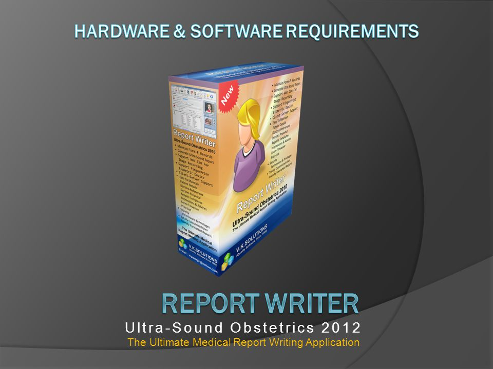 Ultra-Sound Obstetrics 2012 The Ultimate Medical Report Writing Application