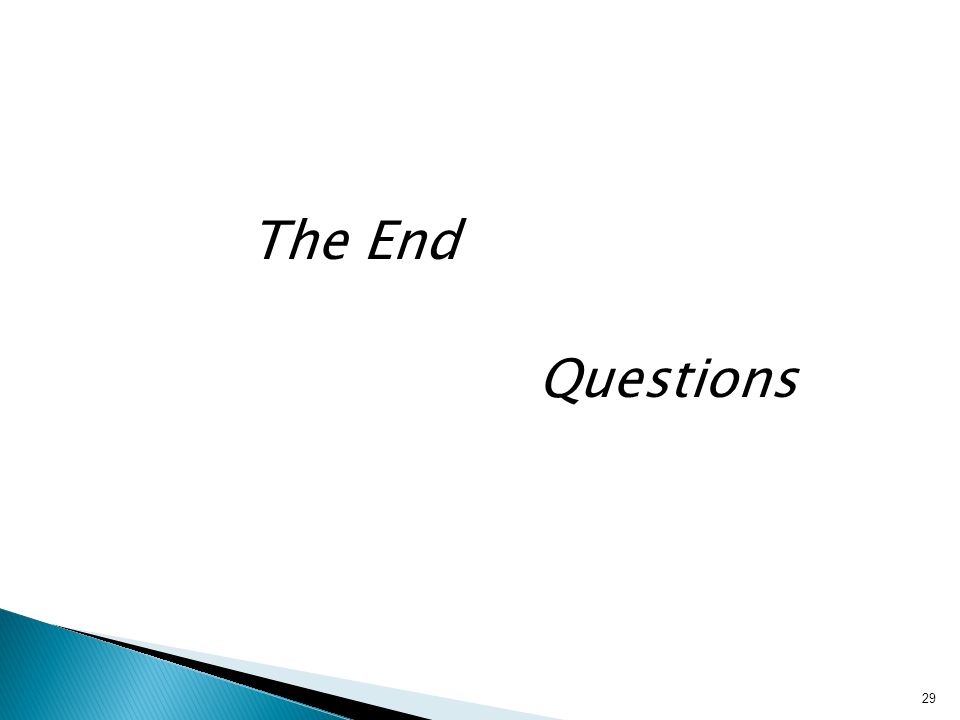 The End Questions 29