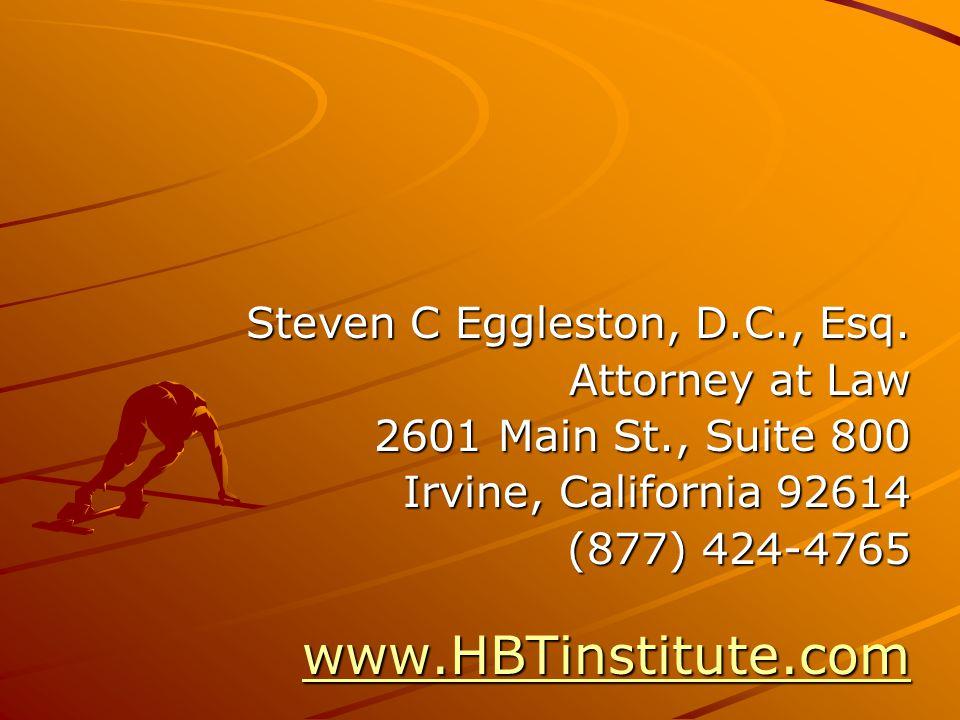 Steven C Eggleston, D.C., Esq.