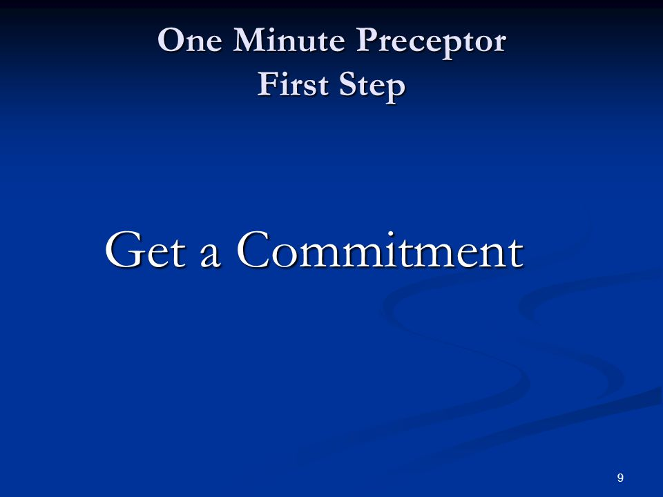 10 First step: Getting a Commitment Suggested Questions : What do you thing is going on with this patient.
