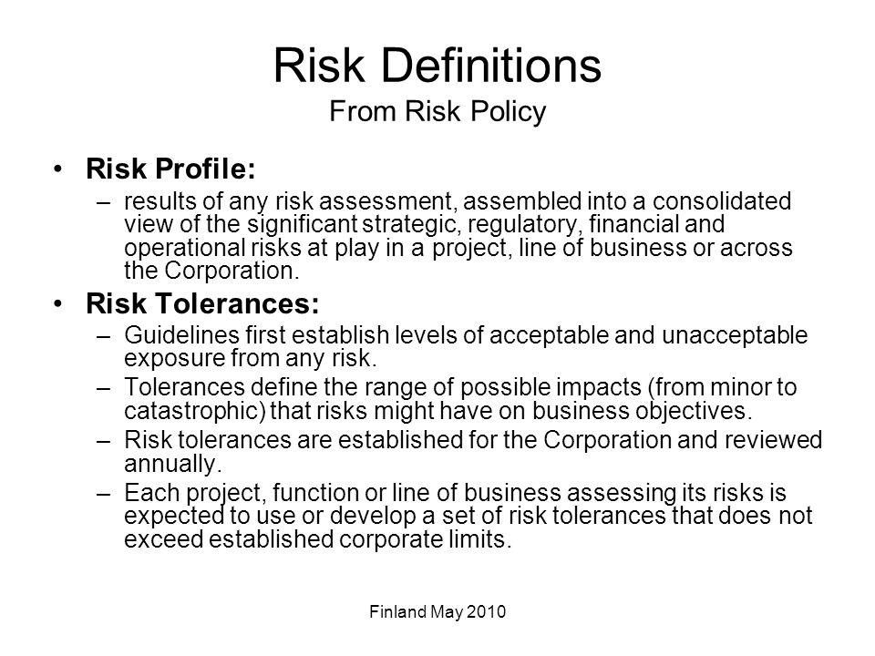 Risk Management Process Establish Business Context Identify Risks –What can happen?/How.