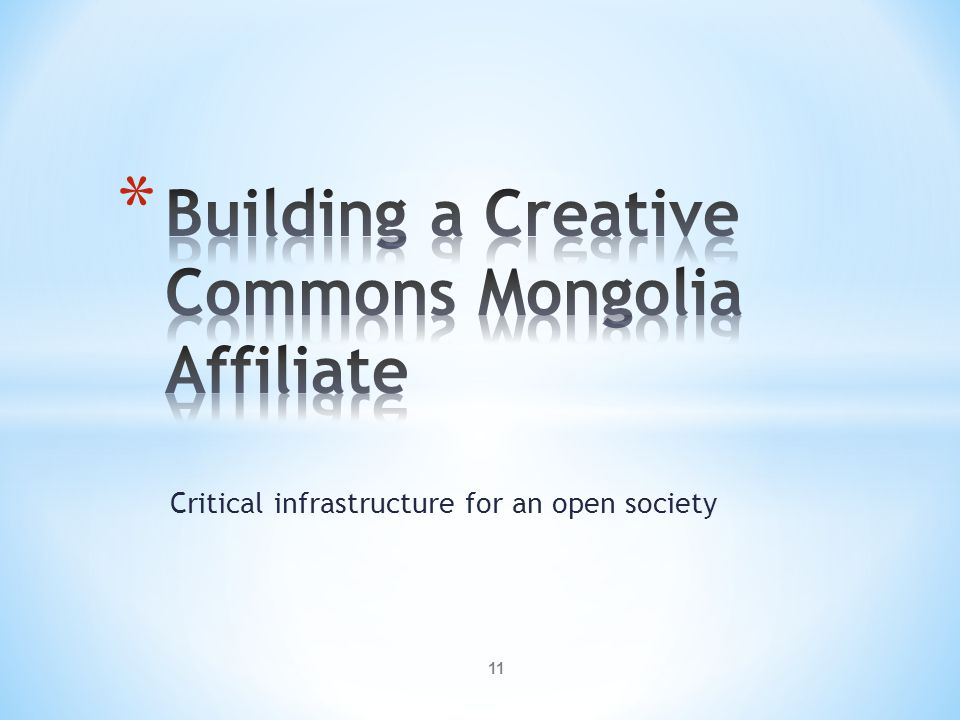 Critical infrastructure for an open society 11