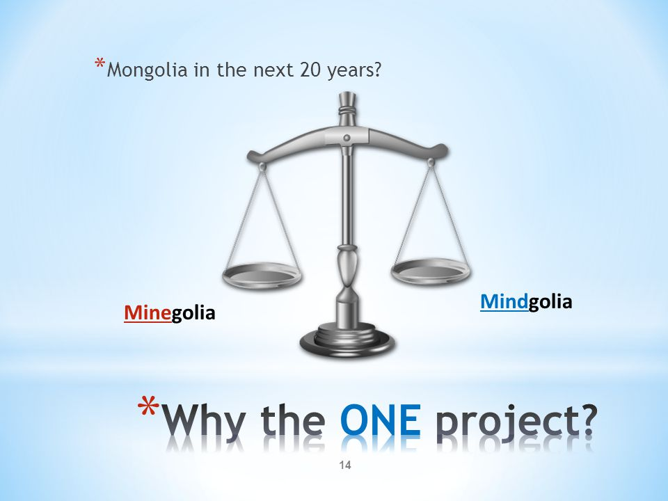 * Mongolia in the next 20 years? Minegolia Mindgolia 14