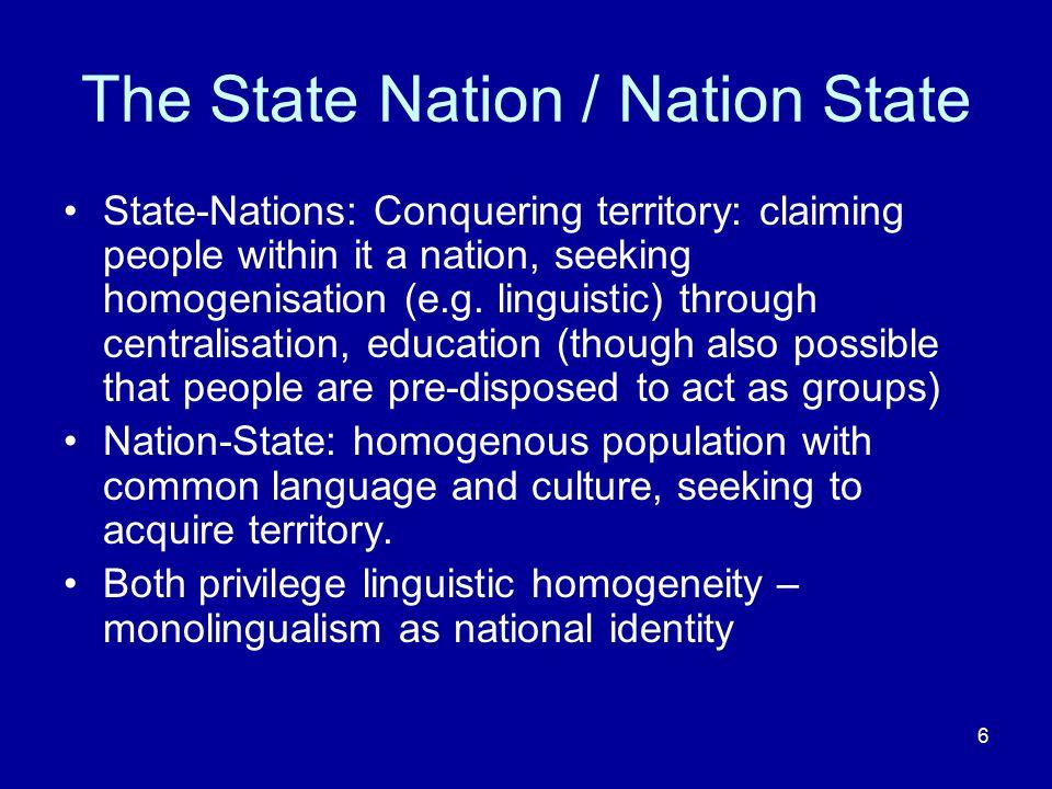 7 One nation, one language.