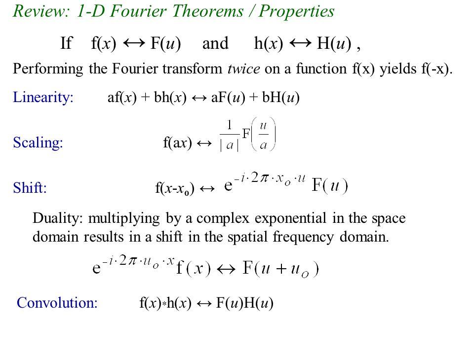2D Fourier Transform problem: comb function, continued (2).