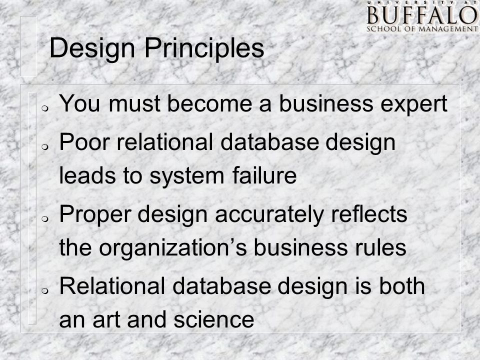 ERD Reminders m Consider how time changes the relationship between entities.