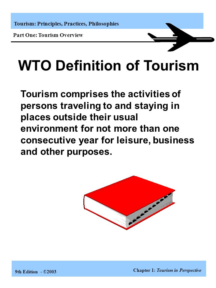 Tourism: Principles, Practices, Philosophies 9th Edition - ©2003 State Organizations All 50 states have travel promotion offices.