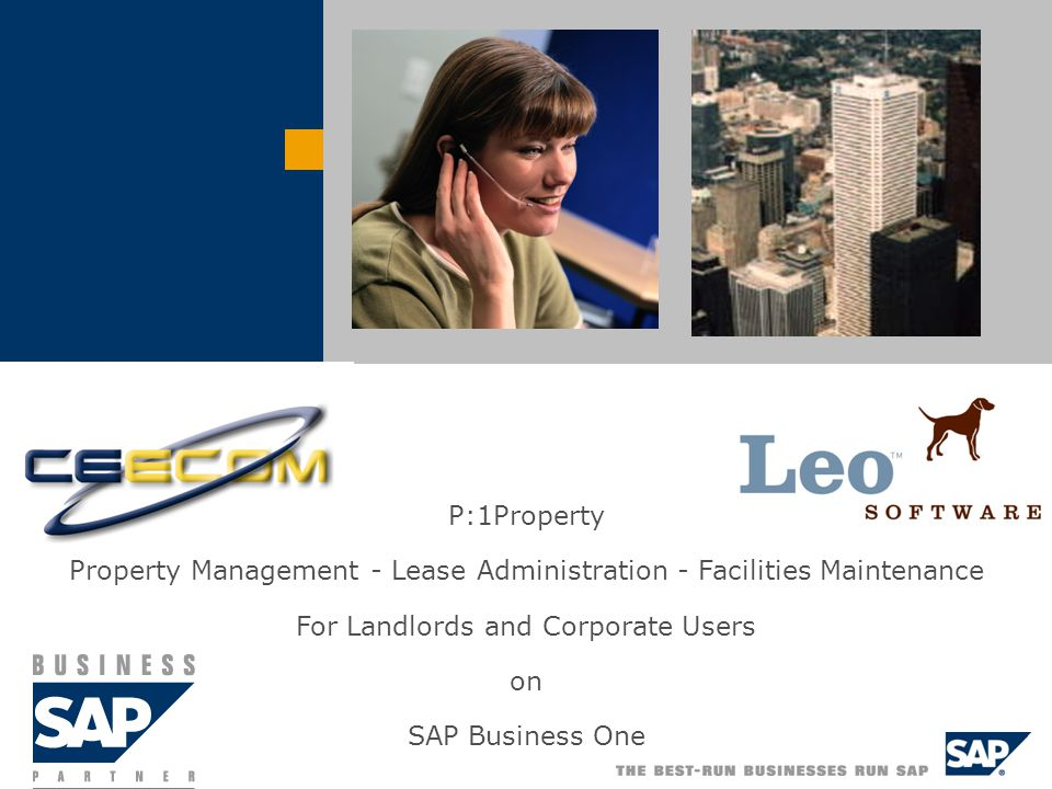 P:1Property Property Management - Lease Administration - Facilities Maintenance For Landlords and Corporate Users on SAP Business One