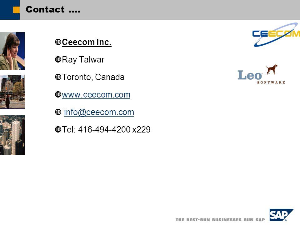 Contact ….  Ceecom Inc.