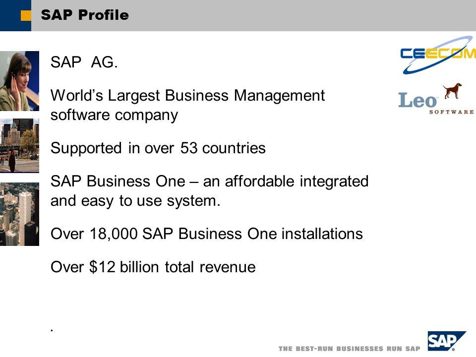 SAP Profile SAP AG.