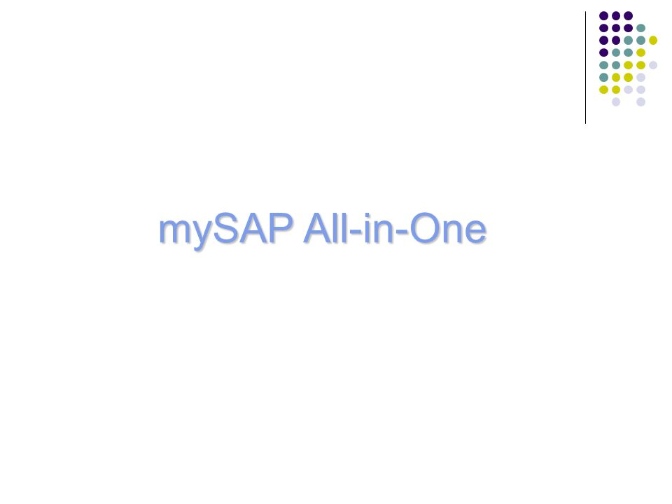 mySAP All-in-One