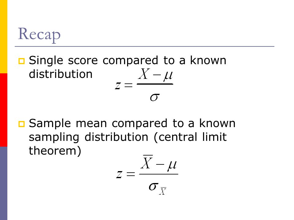 One and two-tailed tests  Note that the critical z-value that we'd need to reach the.05 level is different for each test.