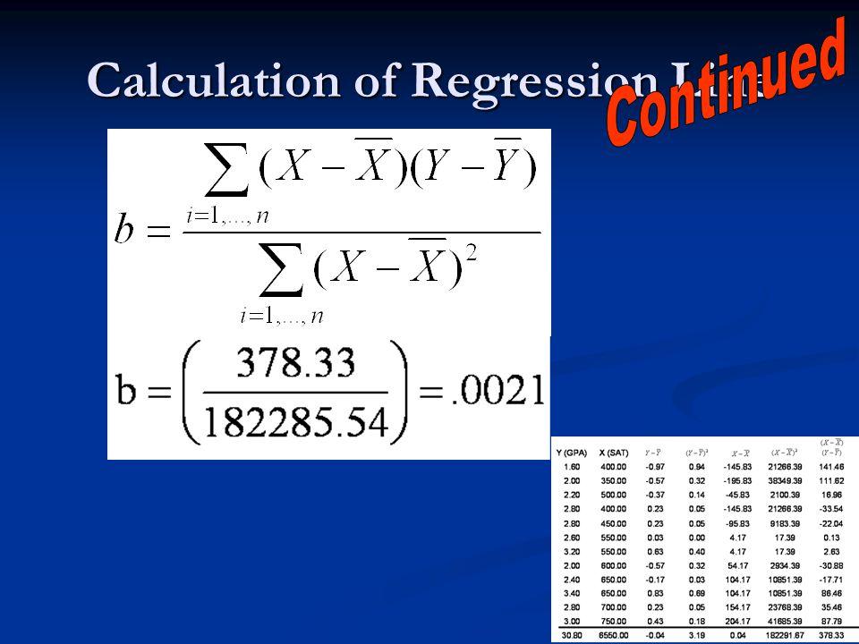 12 Calculation of Regression Line