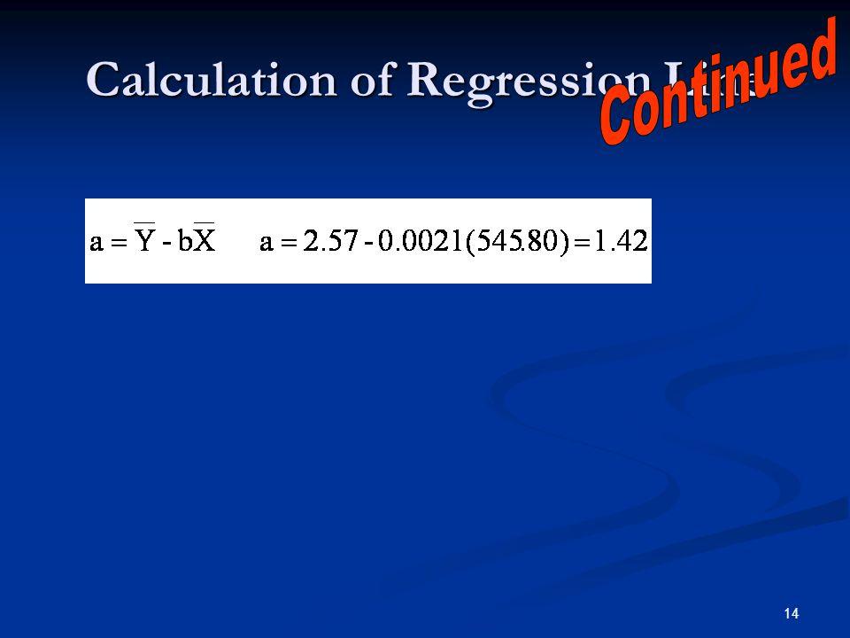 14 Calculation of Regression Line