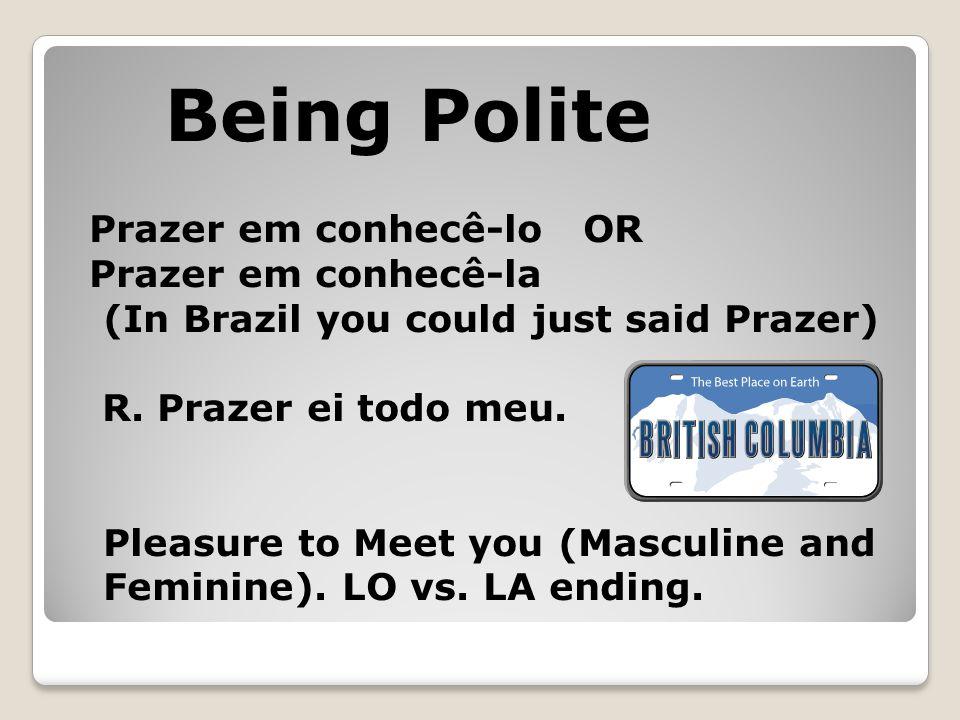 Prazer em conhecê-lo OR Prazer em conhecê-la (In Brazil you could just said Prazer) R.