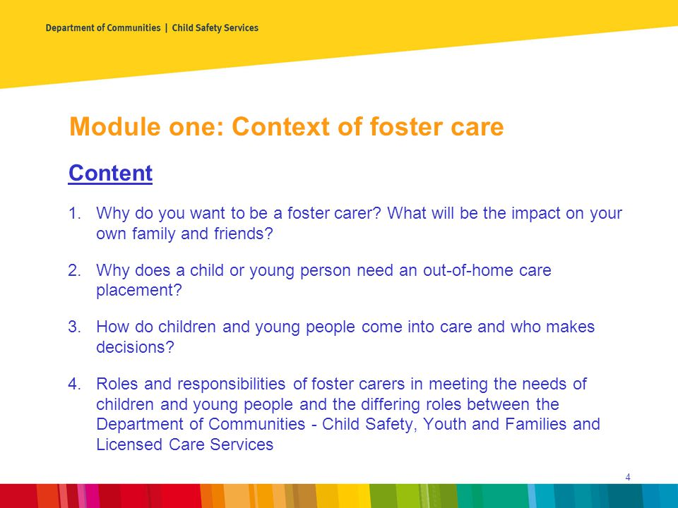 Why do you want to be a carer.1.How did you hear about foster care.