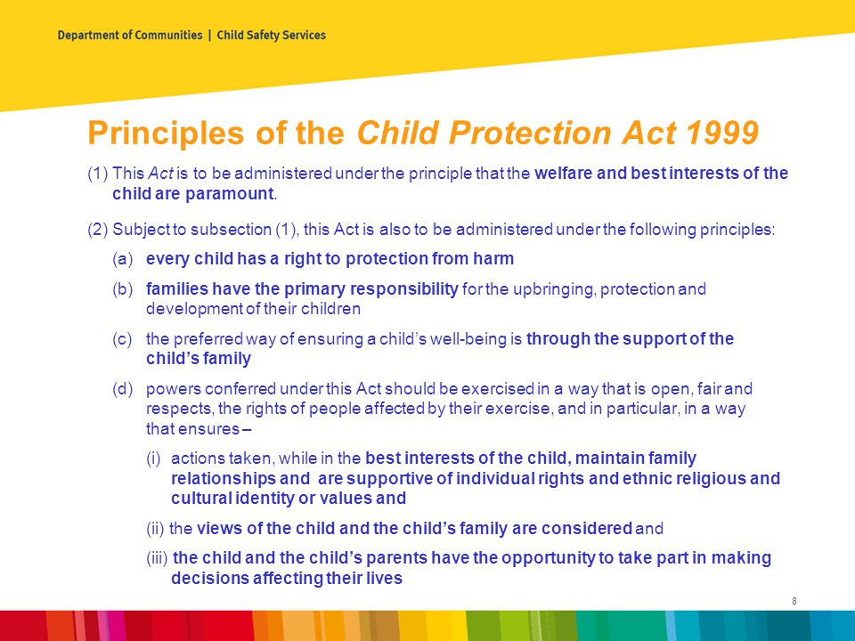 Overview of Child Protection System Investigation and Assessment Aim - Determine if a child is in need of protection.