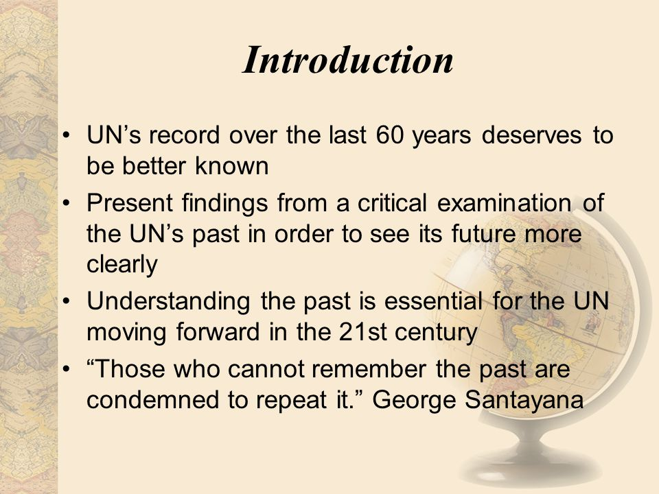 Introduction Most of UN's pioneering contributions initially faced controversy and passion UN's widened the concept of development making it more complicated and realistic Development now includes human rights, human security, gender, environmental issues, population, sustainability and culture Measuring concretely the dimensions of the world has been another UN contribution
