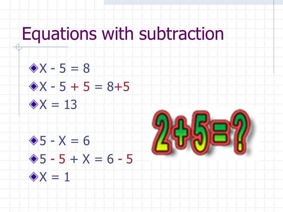 Answers!!! X = 7 X = 4 X = 3