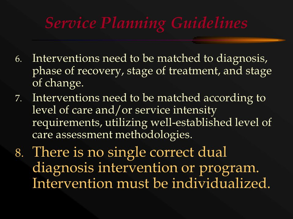 Service Planning Guidelines 6.