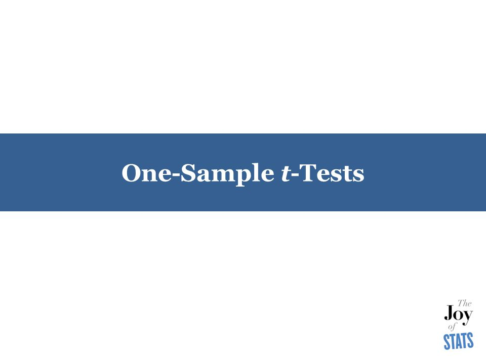 One-Sample t-Tests