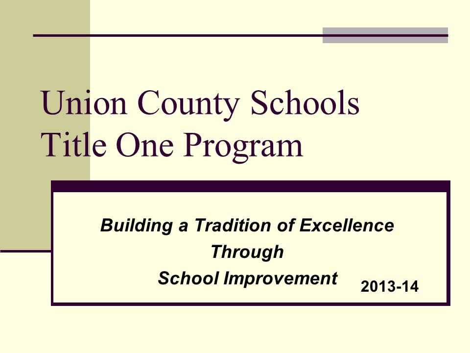 What is Title I? It is the largest federal aid program for our nation's schools.