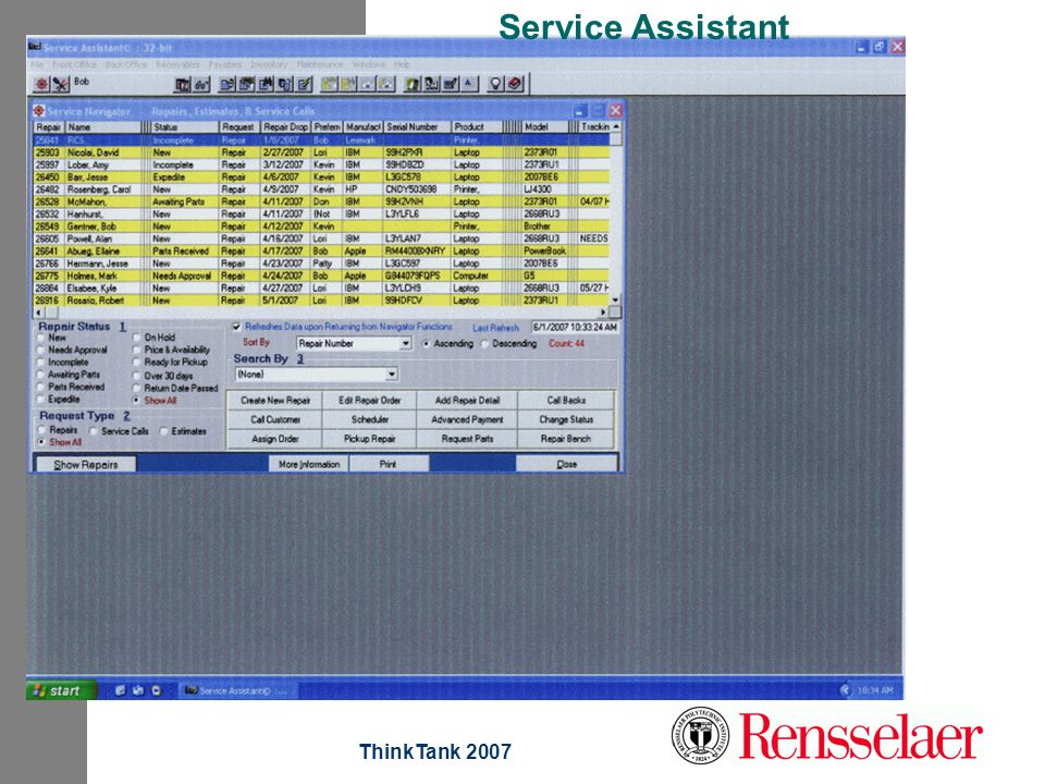 ThinkTank 2007 Service Assistant