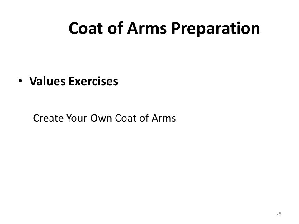 28 Coat of Arms Preparation Values Exercises Create Your Own Coat of Arms 28