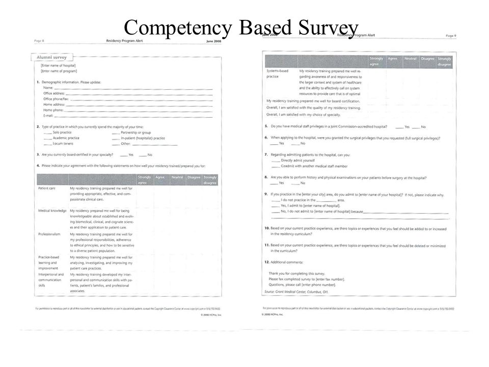 Competency Based Survey